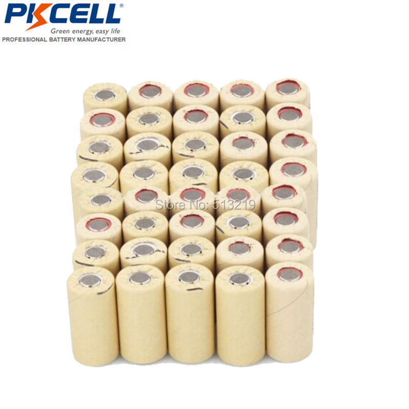 50 x Power tool battery NiCd SubC SC 2200mAh Paper Wrapped Rechargeable Battery Flat Top 10C