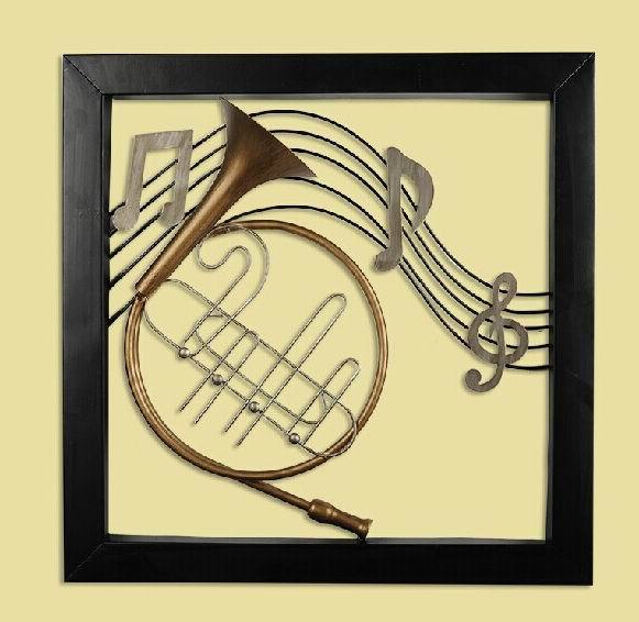 Modern Home Decoration Metal Wall Art 3D Musical Instruments Hanging ...