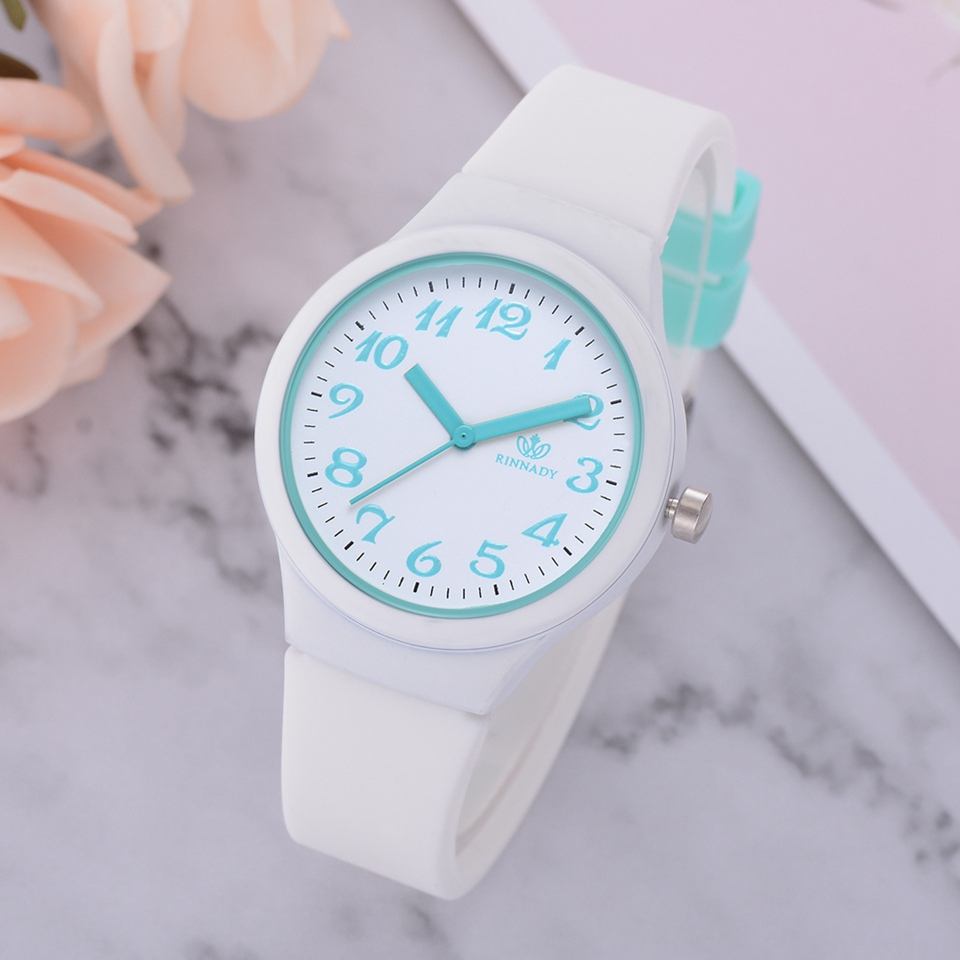 Fashion Creative Silicone Sport Bright-Colored  Quartz Watch Women Concise And Easy For Ladies Wristwatch Montre Femme LS1088