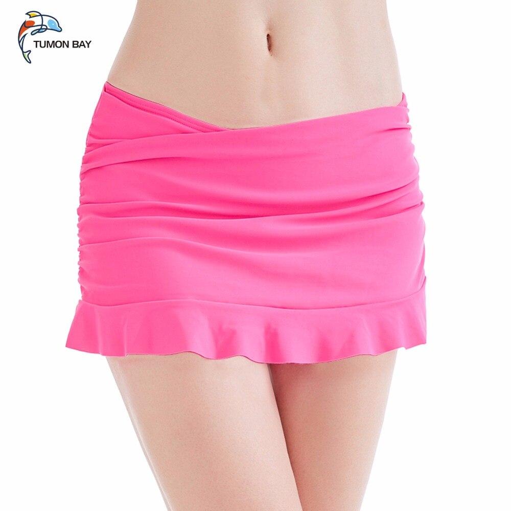 2017 Burst Fold Fold Lotus Leaf Swimming Skirt Large Size Beach Skirt Pants With Briefs