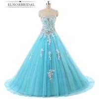 Sky Blue Ball Gown Prom Dresses Plus Size 2018 Robe De Soiree Sweetheart Floor Length Formal