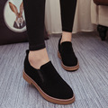 Women Shoes Leather Casual Shoes Platform Woman Walking Spring Fashion Slip-On Low Heeled Comfortable High Quality Skid Size 8