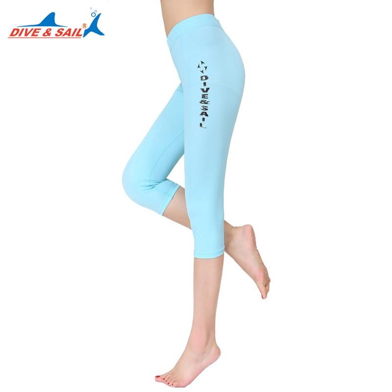 DIVE&SAIL Men Women Anti-UV Lycra Swim Pants Swimwear Beach Shorts Capri Pants Snorkeling Rushguard Surfing Wetsuit