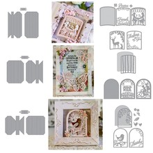 Shadowbox Adjustable Photo Frame Different Scences Metal Cutting Dies New 2019 for DIY Scrapbooking Embossing Paper Cards Crafts