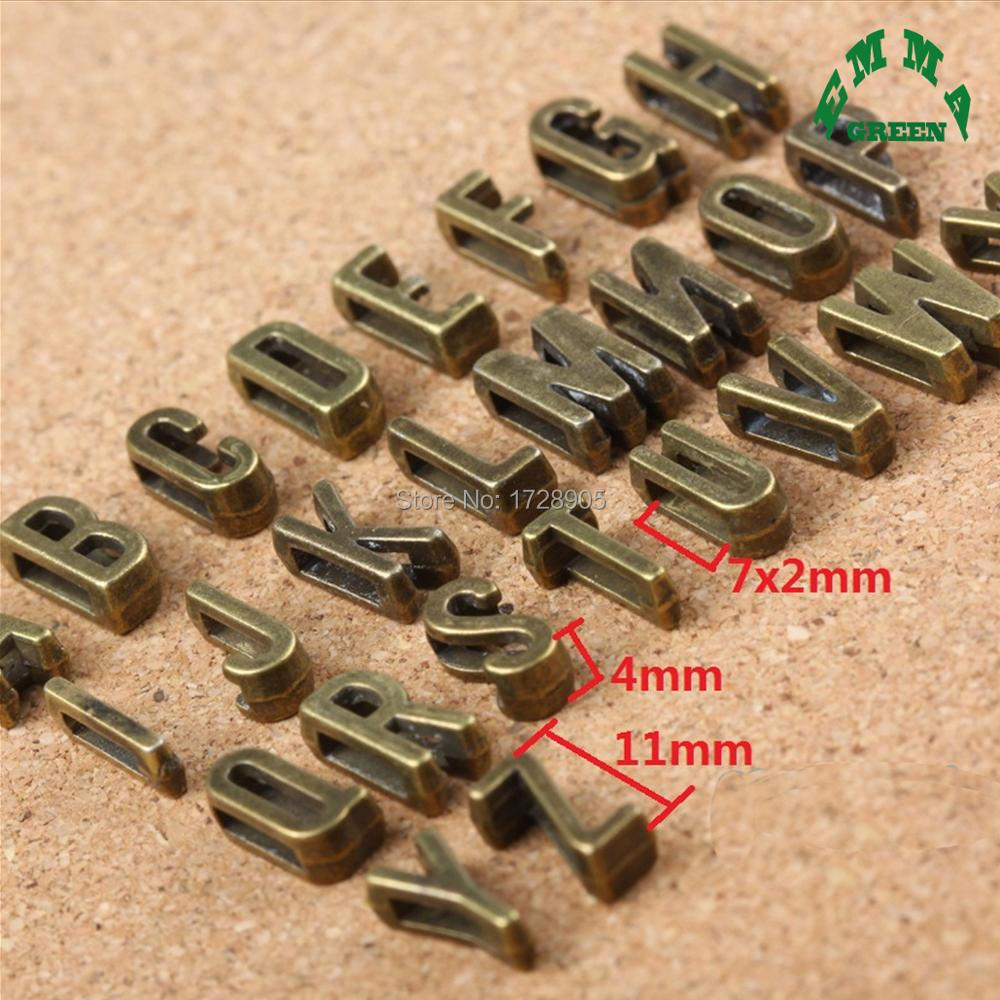 Big Hole 3d Letters 10 Pcs 11x6x4mm Retro Bronze Metal Letter Alphabet Beads Initial D F.r.i.e.n.d.s W.i.t.c.h Retro Charms In Short Supply