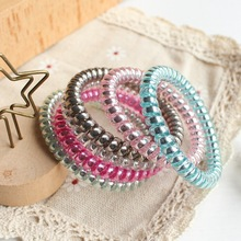 Telephone Wire Line Hair Ring Gum Colored Elastic Hair Band For Girl Hair Scrunchy Rubber Band