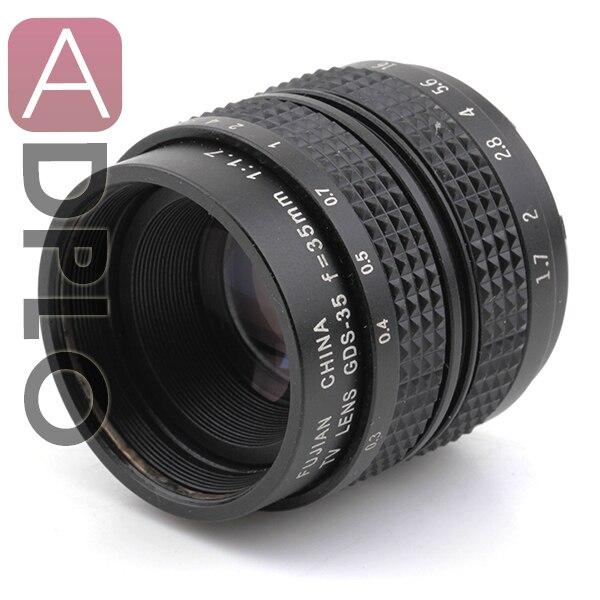 "2/3""Television TV Lens/Camera Lens for C Mount Camera 35mm F1.7 in Black"