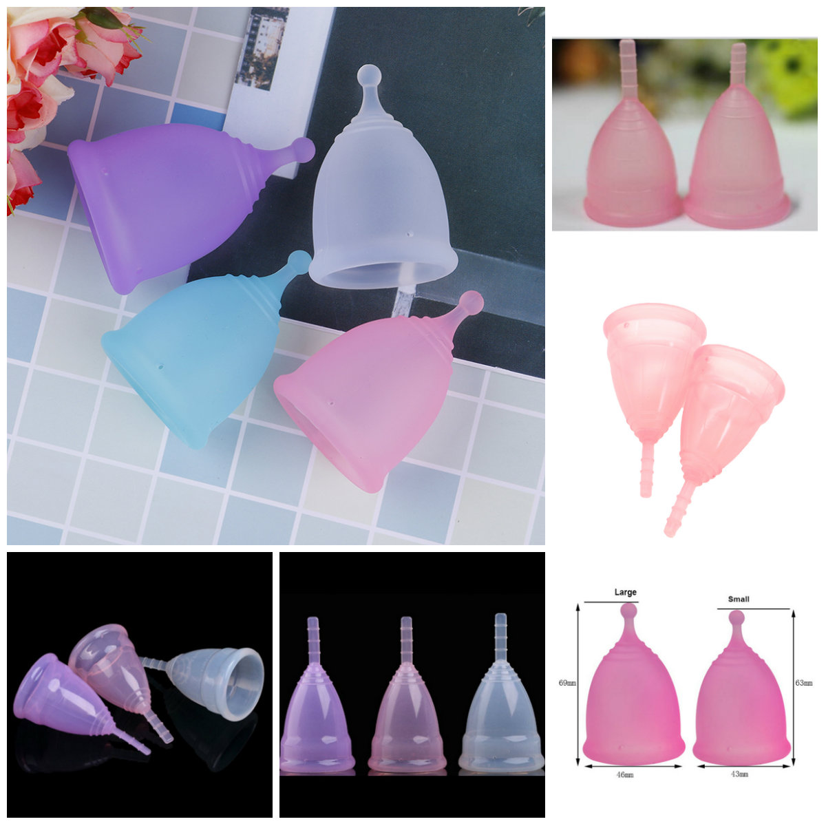 1Pcs Medical Grade Silicone Menstrual Cup for Women Feminine Hygine Product Health Care Menstrual Cup