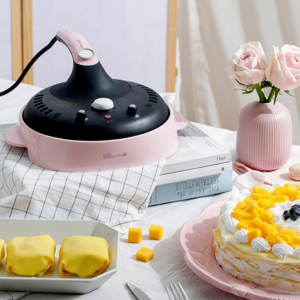 Pancake Machine <font><b>Electric</b></font> Crepe Maker Pizza Machine <font><b>Baking</b></font> <font><b>Pan</b></font> Cake Machine Non-stick Griddle Kitchen Cooking Tools image
