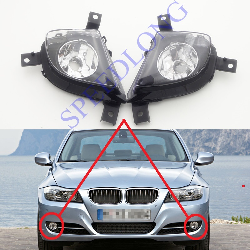 2 Pcs/Pair RH and LH Without Bulbs Front Fog Lights bumper driving lamps for BMW 3 Series E90 New Model 2008-2011 1pair rh lh side front bumper fog lamps lights with bulbs for mazda 5 2006 2010