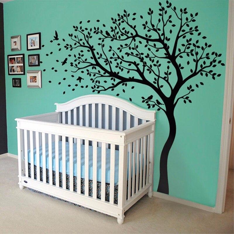 Énorme arbre de pépinière Stickers Muraux décoration murale autocollant Mural pour enfants Vinilo Stickers Muraux pour enfants chambres Muraux décor à la maison