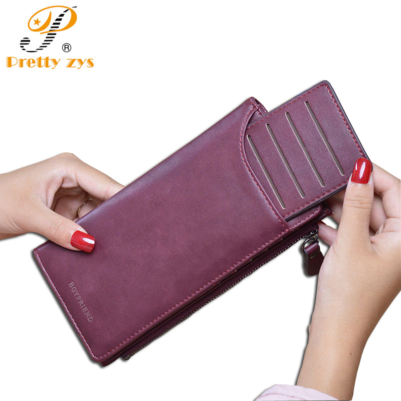 New Fashion Women Wallets High Quality PU Nubuck Leather Solid Long Purse Woman Large Capacity Clutch Bag Designer Card Wallet aim fashion women s long clutch wallet and purse brand designer vintage leather wallets women bags high quality card holder n801