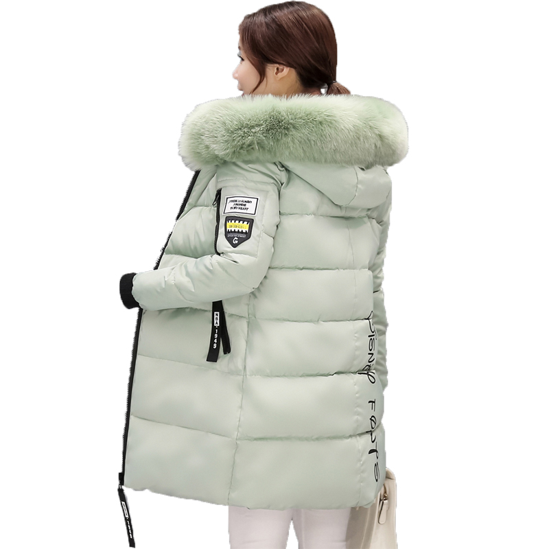 Winter Parka Women 2017 Letter Pocket Plus Size Thick Warm Womens Winter Hooded Jackets New Casaco Plus Size plus size letter print hooded sweatshirt dress