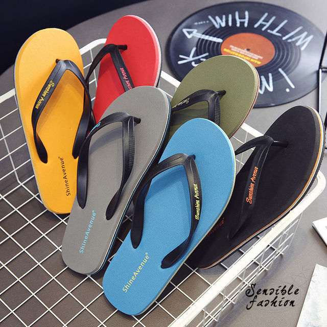 New Arrival Summer Beach Flip Flops Men Slippers Outdoor Soft Rubber Casual Shoes Men Slippers Indoor Shoes for man