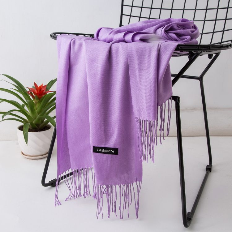 HTB1mgi5XhrvK1RjSszeq6yObFXay - Women solid color cashmere scarves with tassel lady winter autumn long scarf high quality female shawl hot sale men scarf
