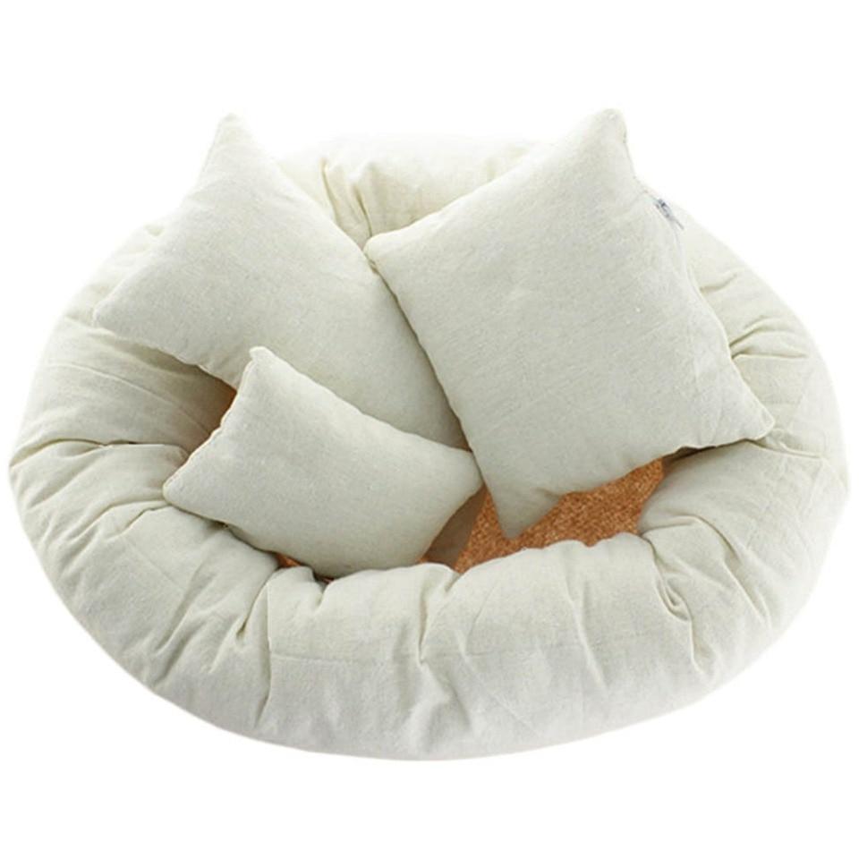JICHUIO 4Pcs//Set Baby Newborn Pillow Basket Filler Wheat Donut Photography Props