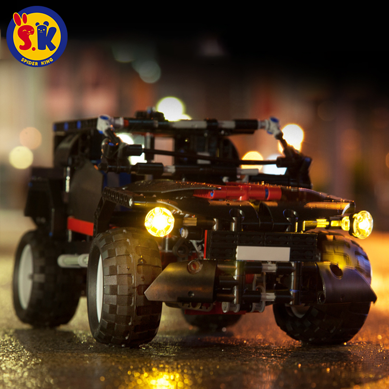 SK New Arrival Promotional Black Blocks Off-road Voice Light SUV Bricks юбки iswag юбка black sk