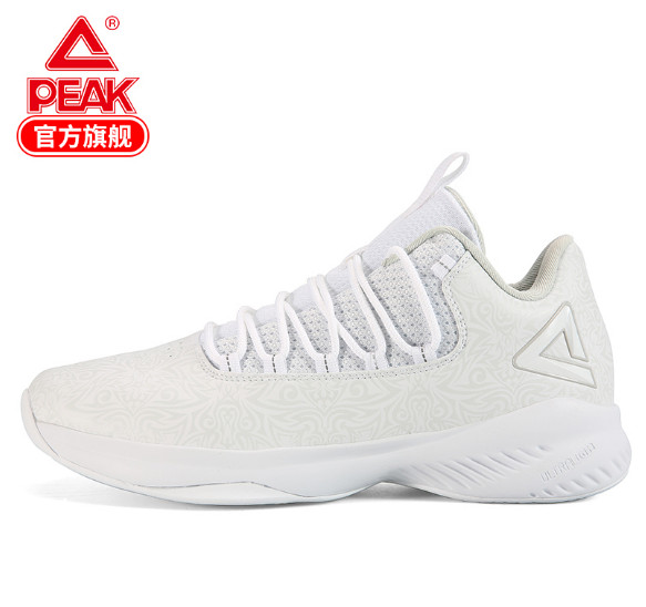 Peak 2018 autumn and winter new men's basketball shoes lightweight leather face wrapped outfield combat wear sports shoes