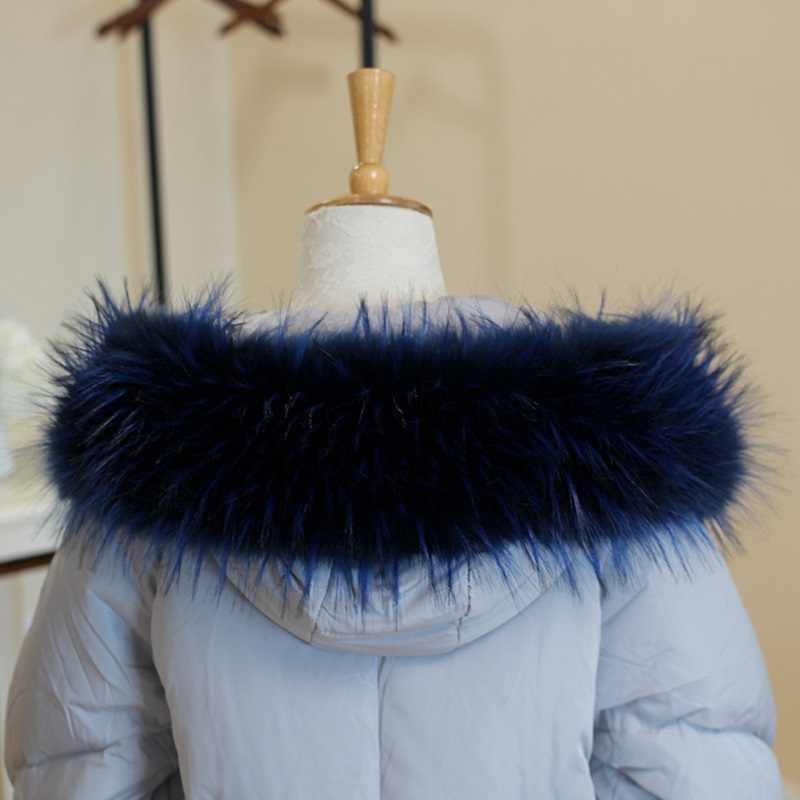 Faux Pelz Schal Winter Kapuze Pelz Decor Schal Mehrfarbig Gefälschte Pelz Schal Herbst Winter Frauen Männer Mantel Warme Pelz Kragen