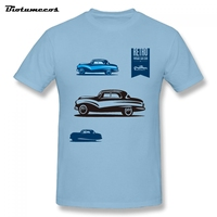 Newest Fashion Cloth Four Retro Cars Vintage Retro Car Club Printed Sleeve Cotton Made Male T