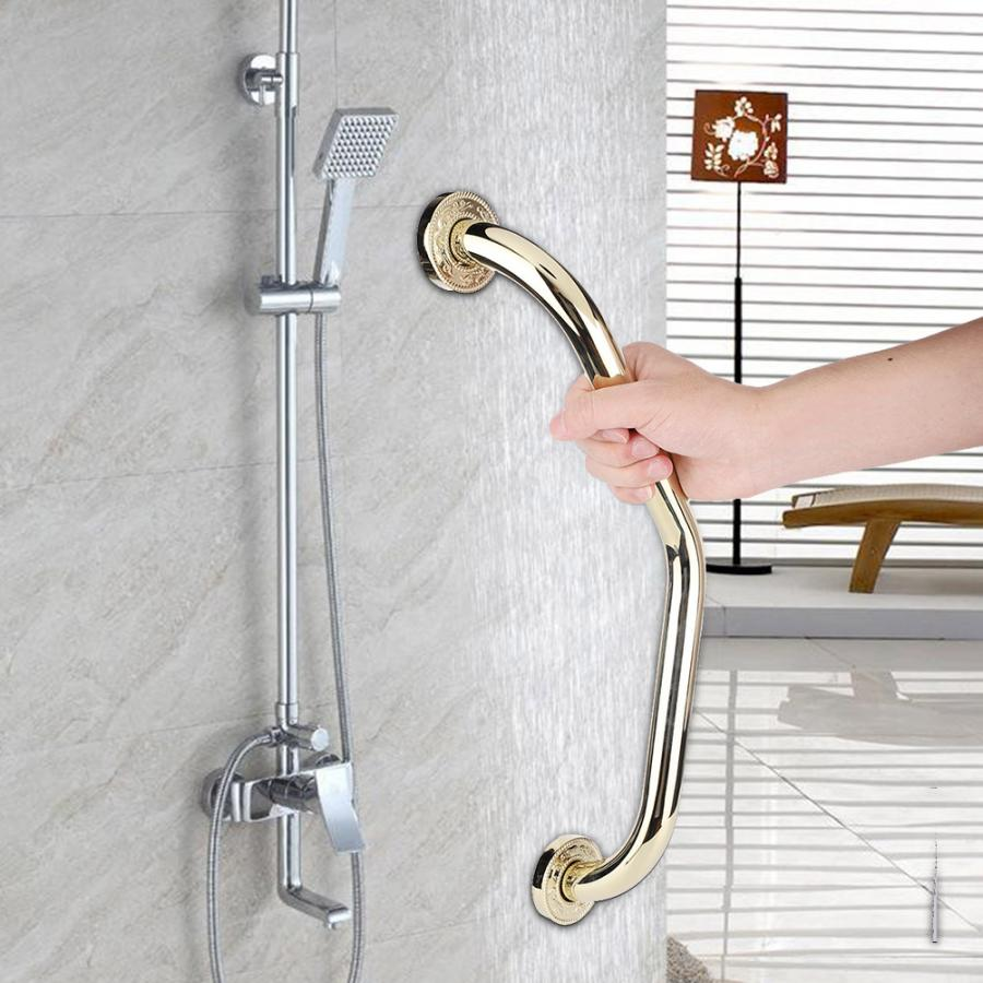 Zinc Alloy Grab Bar Handrail Toilet Safety Non-Slip Armrest Shower Grip Bar Handle Bathtub Rail for Elderly Bathroom Accessories