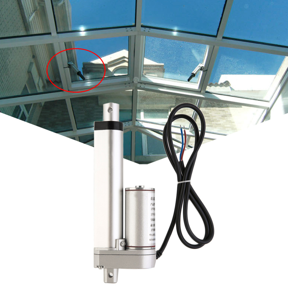 2017 Hot Multi function Linear Actuator Motor direct current DC 12V 100mm Stroke Heavy Duty 500N 20MM S Motor in DC Motor from Home Improvement