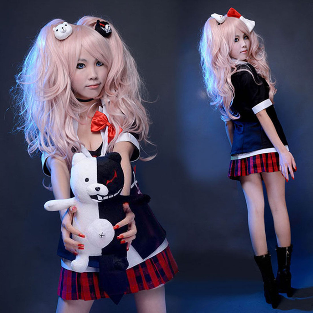 Danganronpa Junko Enoshima Emboitement Inushio Kimuchi Symbol Mark Sign Dangan-Ronpa Trigger Happy Havoc Cosplay Costume