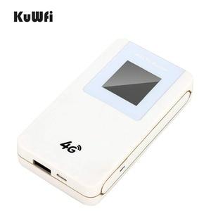 Image 4 - KuWfi Unlocked 4G LTE Wireless Router MiFi  4600mAh Power Bank WIFI Router Portable Wireless Modem With SIM Card Slot