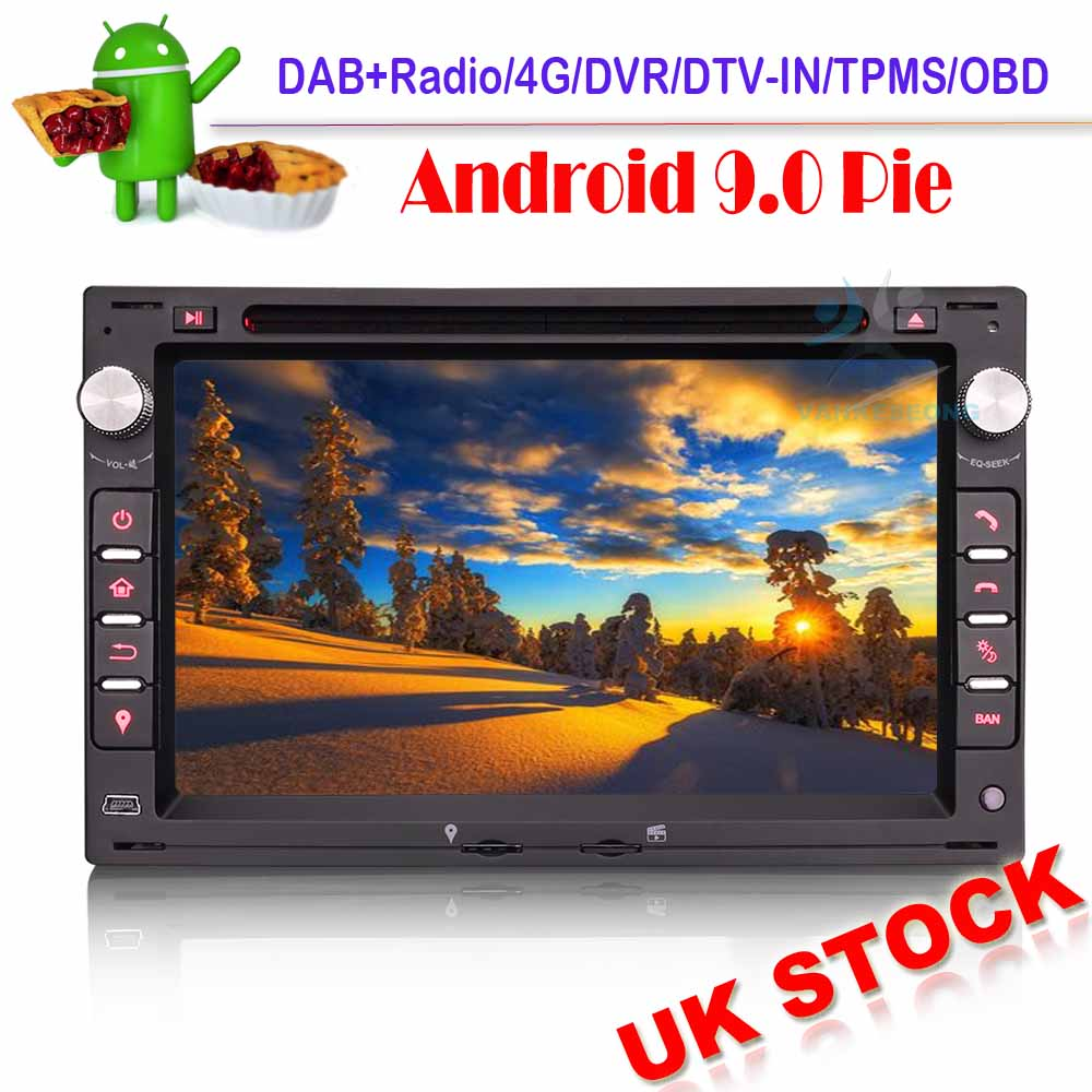 Car stereo Android 9.0 CD Sat Nav For VW POLO <font><b>GOLF</b></font> <font><b>MK4</b></font> T5 TRANSPORTER SUPERB SEAT WIFI GPS Bluetooth Radio image