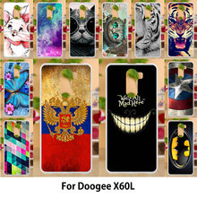 Anunob Case For Doogee X60L Cases TPU Soft Silicone Cover For Doogee X60L Covers 5.5 inch Painting Animals Colorful Hot Selling(China)