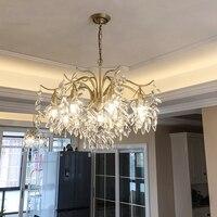 JAXLONG Современная Лофт стеклянная светодиодная хрустальная люстра декор для ресторана светодиодный подвесной светильник для кухни светиль