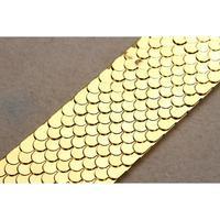 5x Golden Stylish Fish Scale Shape Metal Embellished Elastic Waistband For Women 70 4 5cm