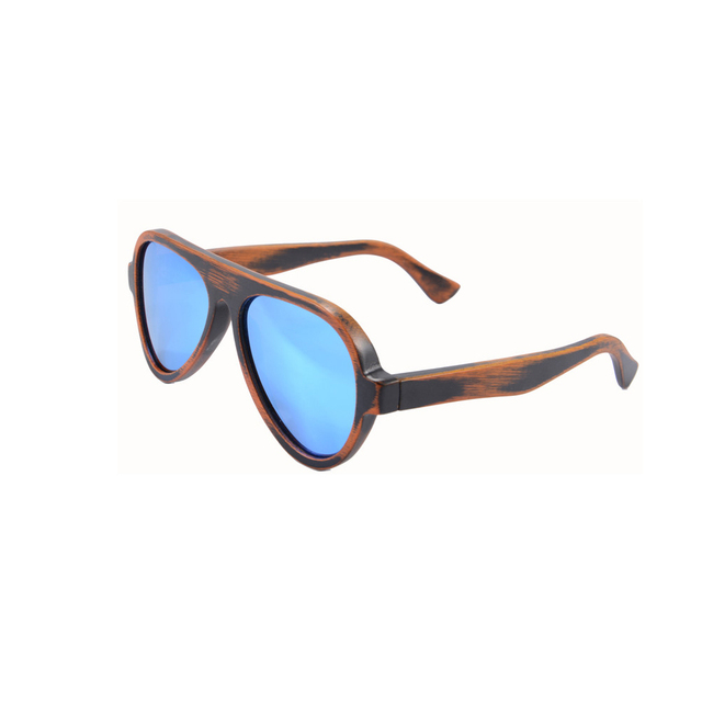 fashion women men pilot sunglasses 100% UV400 polarized oval shape glasses handmade wooden bamboo glasses summer goggle z6068