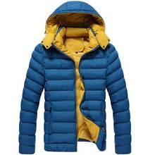 Новая Мода Мужская Одежда Зимние Куртки С Капюшоном Мужчины Куртка Тенденция Хлопка Ватник Случайные Толстые Пальто Азии Размер M-5XL
