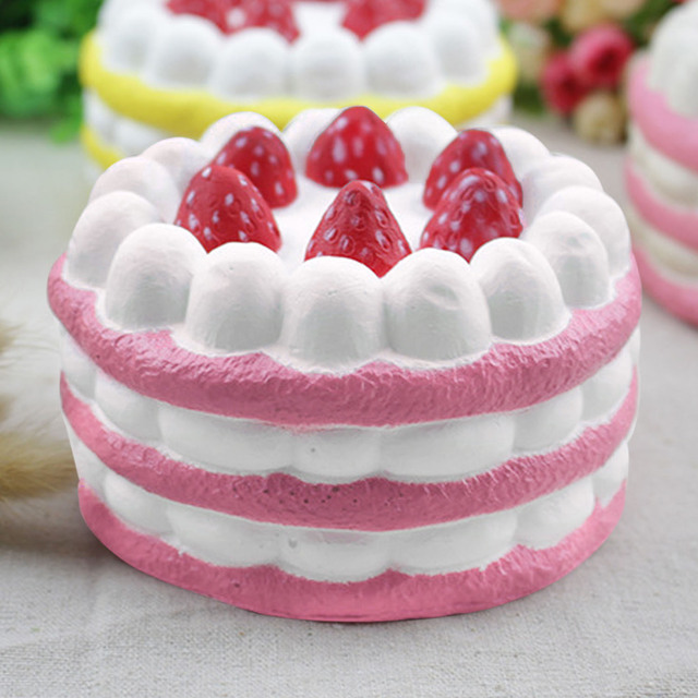 Strawberry Cake Squeeze Toy