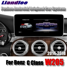 Liandlee Car Multimedia Player NAVI For Mercedes Benz MB C Class W205 2014~2018 Accessories Car Radio Stereo WiFi GPS Navigation