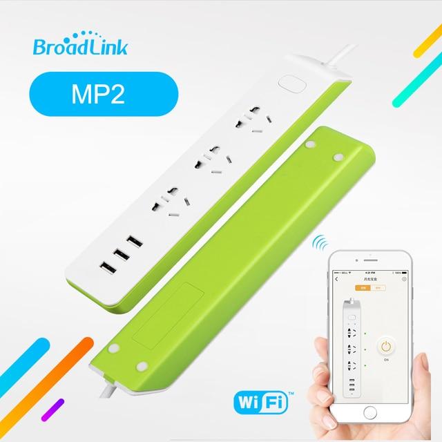 Original Broadlink MP2 enchufe de Control remoto App interruptor Sistema de casa inteligente de potencia de Wifi conexión inalámbrica eléctrica