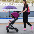 Baby Stroller Ultra Lightweight Single Hand Folding Baby Carriage Umbrella Handle Car  Portable Baby Buggy Umbrella Car Pram