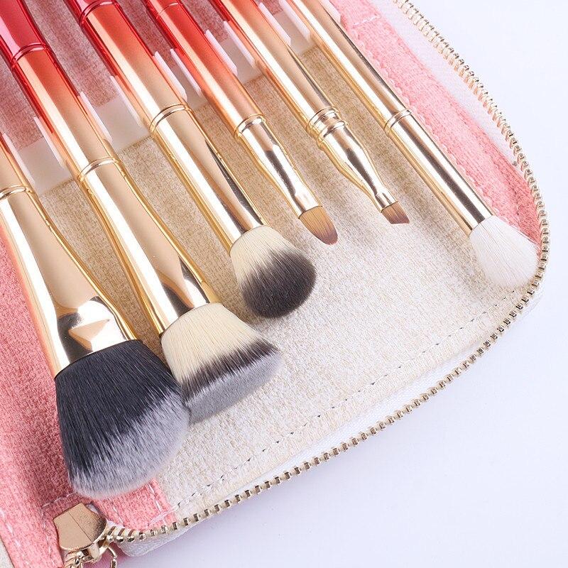 Tesoura de Maquiagem portátil 6 pcs duplas cabeças Material : Cabelo Sintético