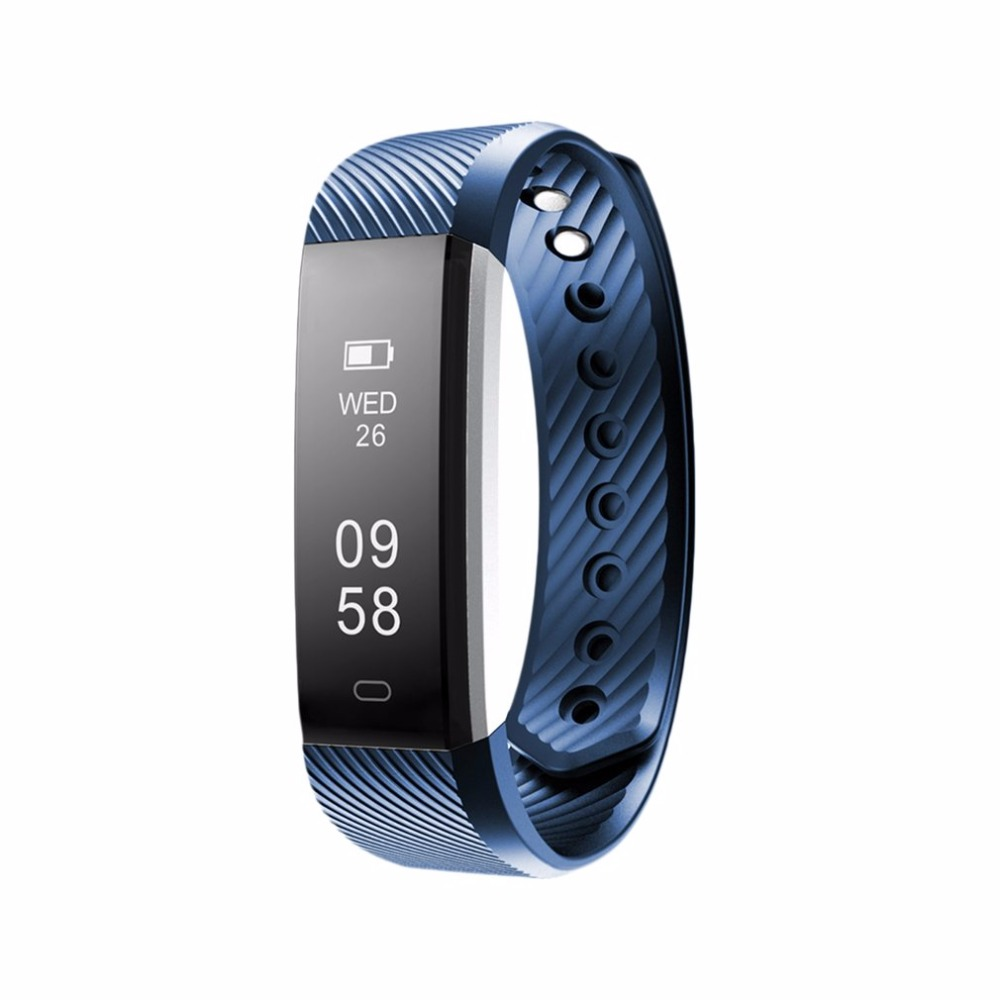 Smart Bracelet Fitness Tracker Step Counter Activity Monitor Band Alarm Clock Vibration Wristband for IOS for Android 2018