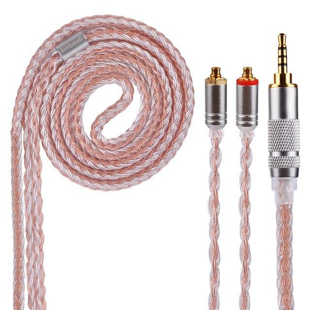 Kinboofi 16 núcleos de Cable de cobre 2,5/3,5/4,4mm equilibrado Cable con MMCX/2pin conector para LZ A5 HQ5 HQ6