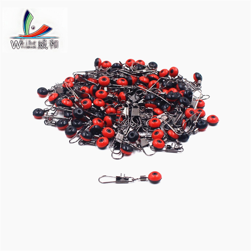 10 Pcs Fishing Beans Connector Float Roller Fishing Supplies Fish Report Tackle Tool Line To Hook Swivels Rod Clip Snap Sea Lure