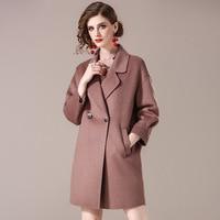 2018 новый ручной двусторонний шерстяное пальто, Женский европейской и американской моды, western стильное платье, два buttons.1824902J