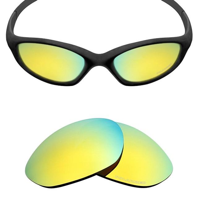 HKUCO Mens Replacement Lenses For Oakley Deviation Red/24K Gold/Titanium Sunglasses NQLz4