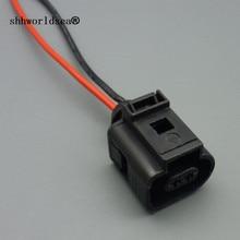 Shhworldsea 1 шт. 1J0973702 1J0973802 электропроводки 2 контактный разъем проводки для VW Audi A4 A6 A8 Q5 Q7 2004-2009