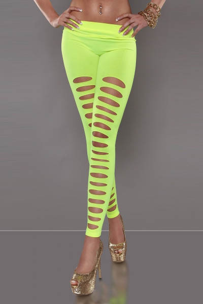 Ripped Leggings Ohyeah Wholesale Excellent-Quality And Dropship T2258 Four-Colors Available