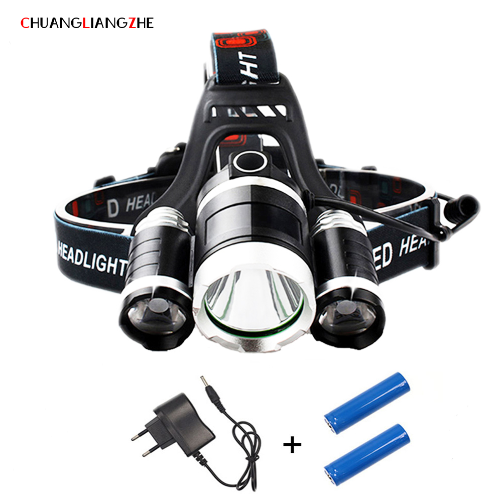 CHLANGLIANGZHE LED T6 Head Lamp30W Outdoor Home Lighting Headlight 18650 Battery Charging Waterproof Hunting Mining Light