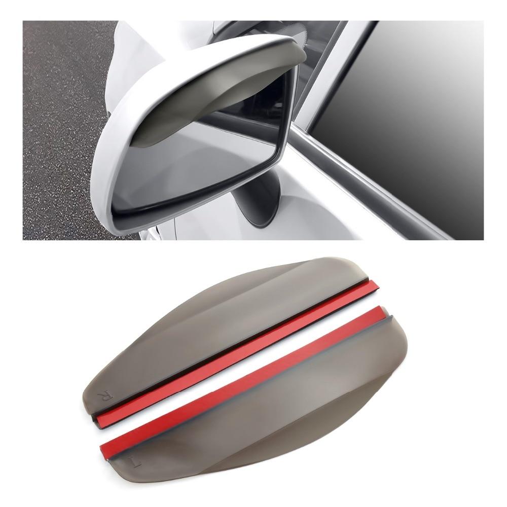 2 Buah Mobil Rear View Sisi Cermin Hujan Papan Sun Visor Shade Perisai Fleksibel Pelindung untuk Mobil Kaca Spion Mobil styling title=