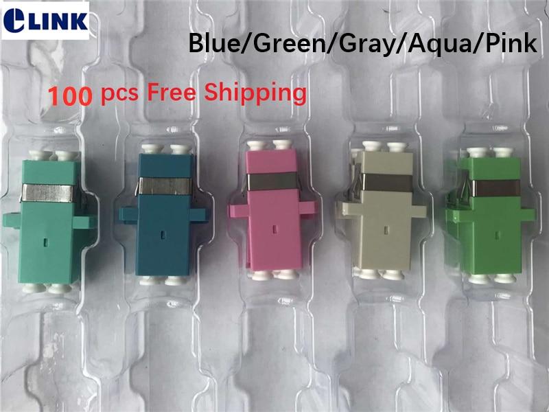 100 Uds LC dúplex adaptador SC huella azul verde gris aqua Rosa fibra acoplador DX conector APC OM3 OM4 OM5 envío gratis 0.2db-in Equipos de fibra óptica from Teléfonos celulares y telecomunicaciones on AliExpress - 11.11_Double 11_Singles' Day 1