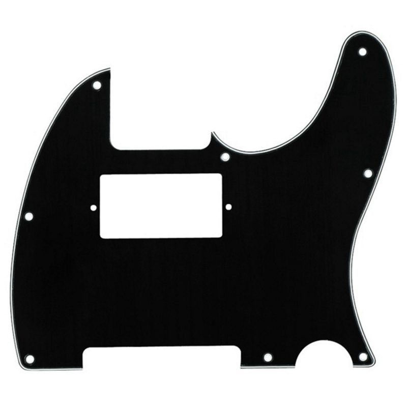 Black 3 PLY Electric Guitar Humbucker Pickup Cut Pickguards For Tele Style